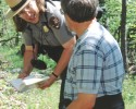 Shen National Park Ranger with Plants 042808