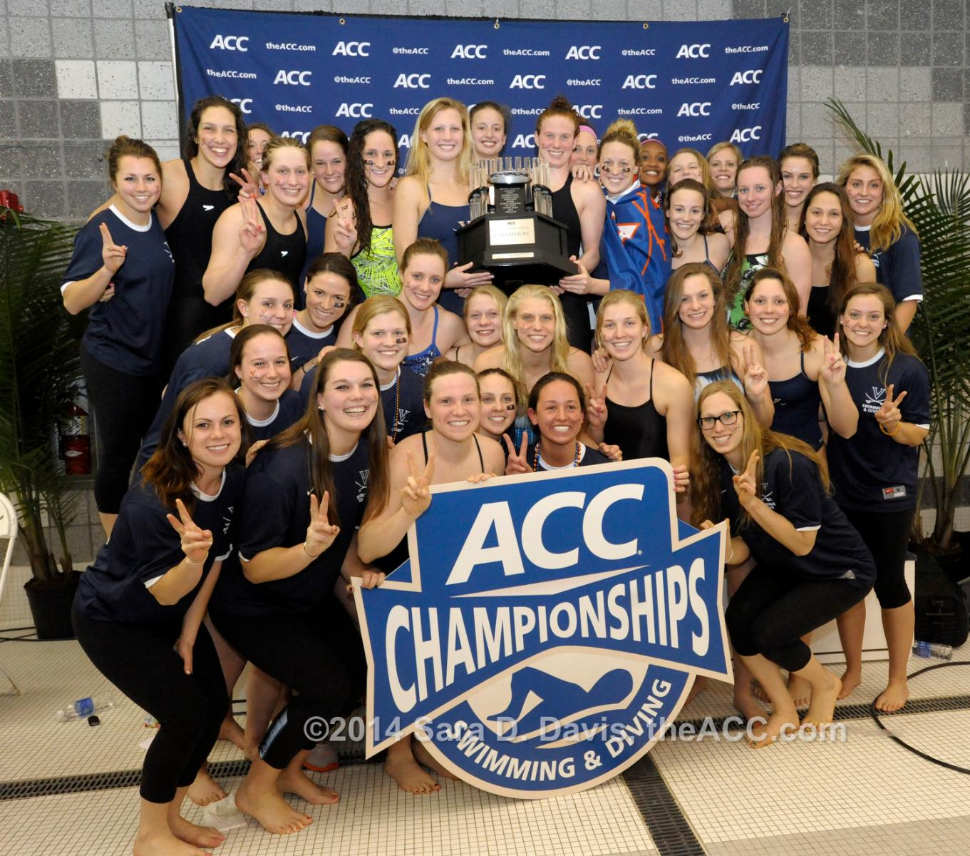 UVA's Women Swimmers And Divers Claim Another ACC Title