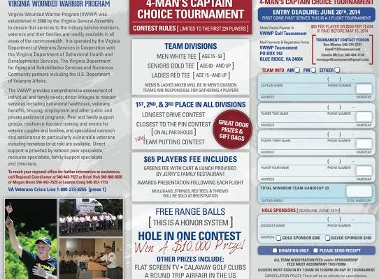 Virginia Wounded Warrior Program Region III 1st Annual Golf Tournament