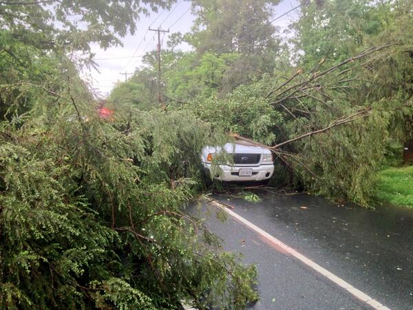 Storm Contributes To Accidents, Downed Trees