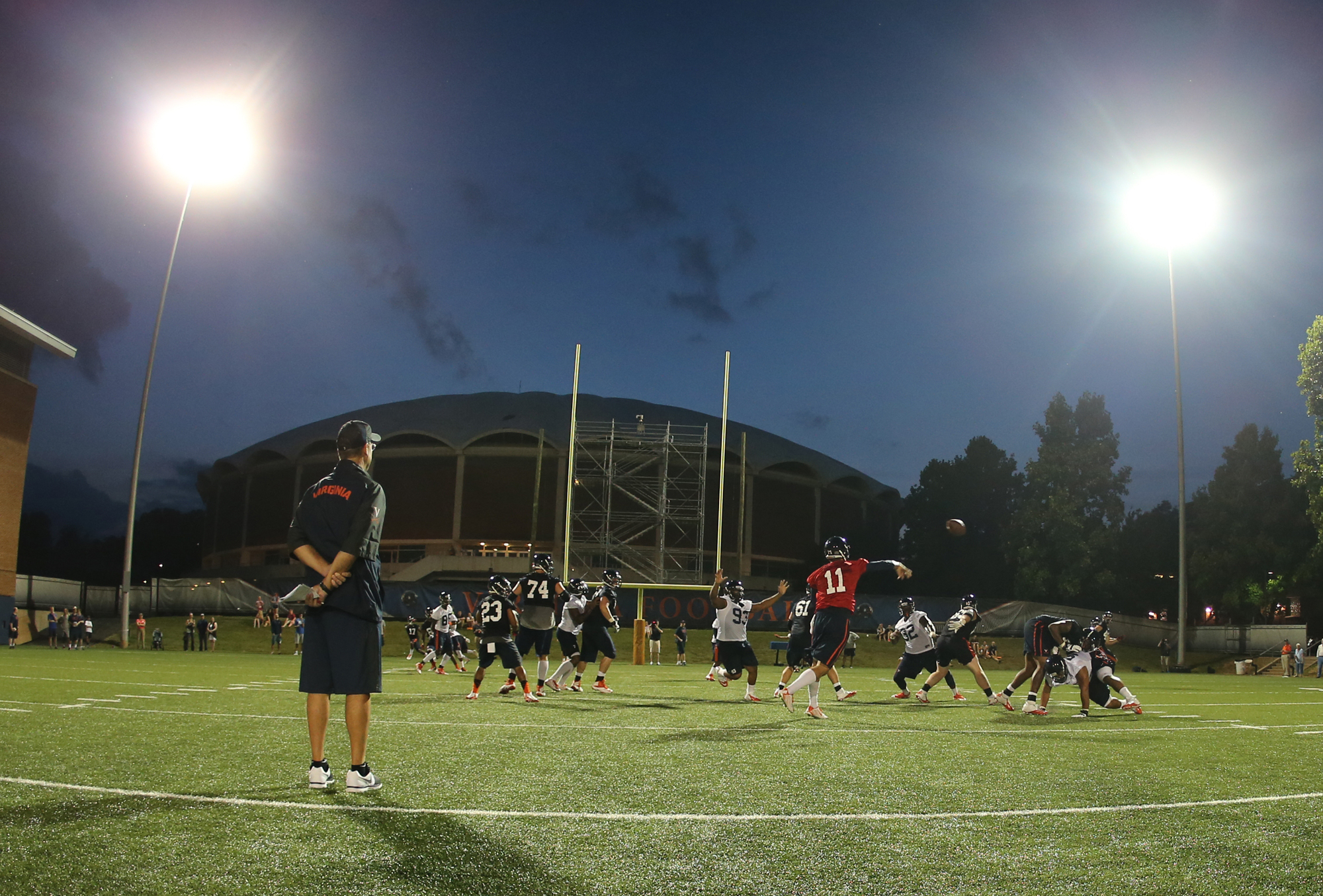 Training Camp Opens For Virginia Football
