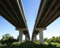 Road overhead 4 lanes overpass (clipart)