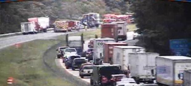 Trucks Collide With Huge Backup On I-64 | NewsRadio WINA