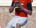 Oct 17, 2015; Charlottesville, VA, USA; Virginia Cavaliers quarterback Matt Johns (15) prepares to throw the ball during the first half against the Syracuse Orange at Scott Stadium. The Cavaliers won 44-38 in third overtime. Mandatory Credit: Amber Searls-USA TODAY Sports