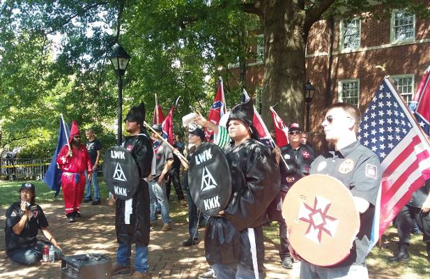 NC-based KKK group rallies in Charlottesville Saturday