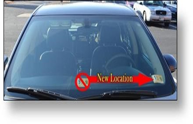 Virginia inspection sticker windshield placement changing next year
